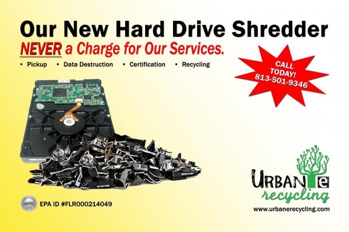 Urban E Recycling HDD Shredder